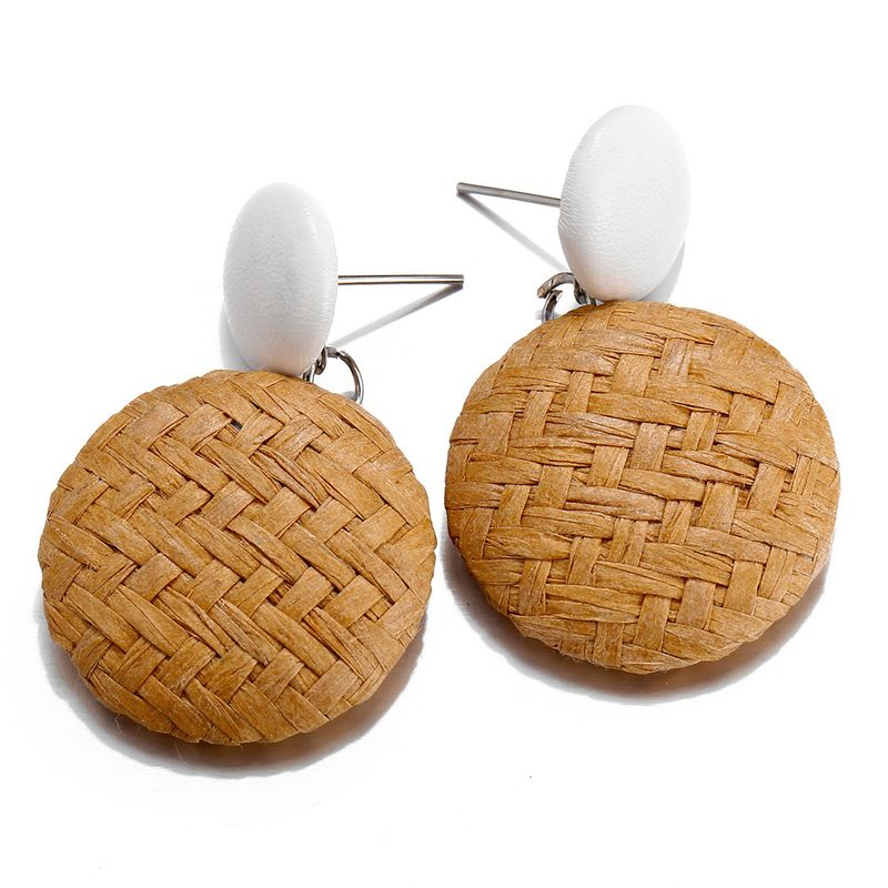 Alloy Fashion bolso cesta earring  (Yellow GEZ09-05)  Fashion Jewelry NHPJ0408-Yellow-GEZ09-05