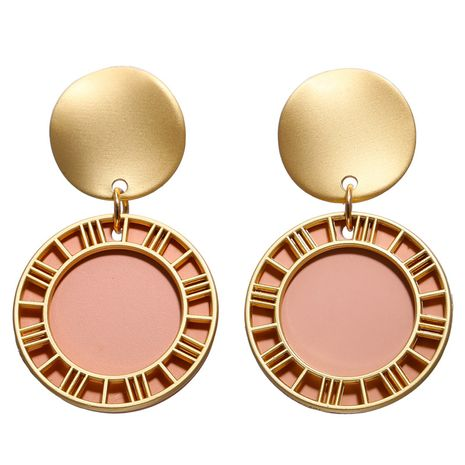 Alloy Fashion Geometric earring  (Powder GAI0301)  Fashion Jewelry NHPJ0409-Powder-GAI0301's discount tags