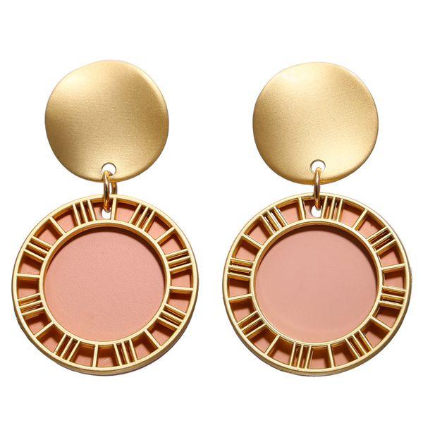 Alloy Fashion Geometric earring  (Powder GAI0301)  Fashion Jewelry NHPJ0409-Powder-GAI0301