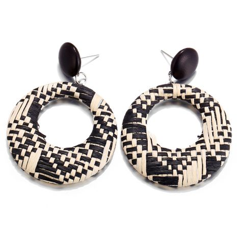 Alloy Fashion bolso cesta earring  (Black and white GFA04-02)  Fashion Jewelry NHPJ0411-Black-and-white-GFA04-02's discount tags