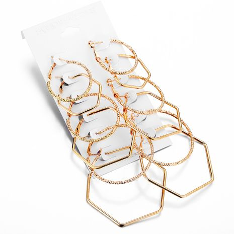 Alloy Fashion Geometric earring  (Alloy 6 pairs of GFO04-04)  Fashion Jewelry NHPJ0413-Alloy-6-pairs-of-GFO04-04's discount tags