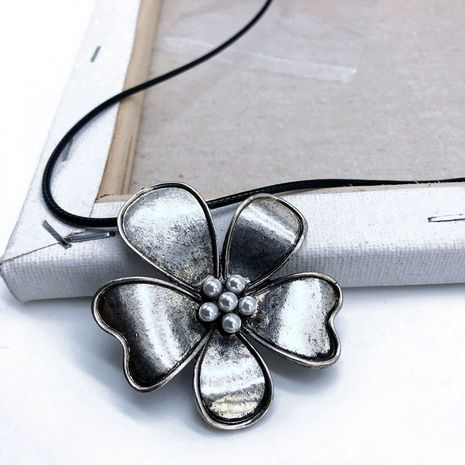 Alloy Fashion Flowers necklace  (Photo Color)  Fashion Jewelry NHOM1614-Photo-Color's discount tags