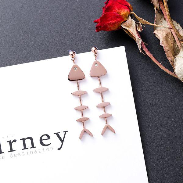 Titanium&Stainless Steel Korea Geometric earring  (Main picture)  Fine Jewelry NHMS2397-Main-picture
