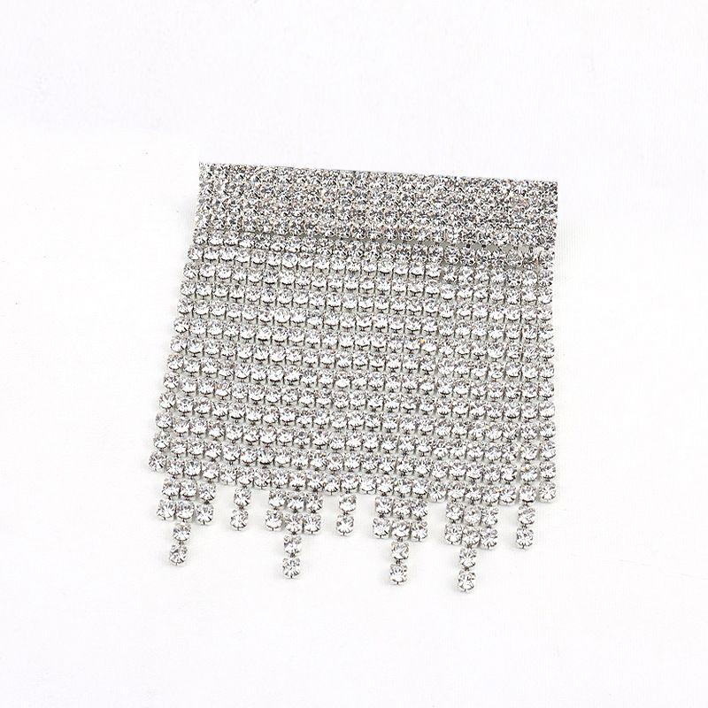 Cristal imit et broche CZ Fashion Tassel alliage Bijoux fantaisie NHNT0760Alloy