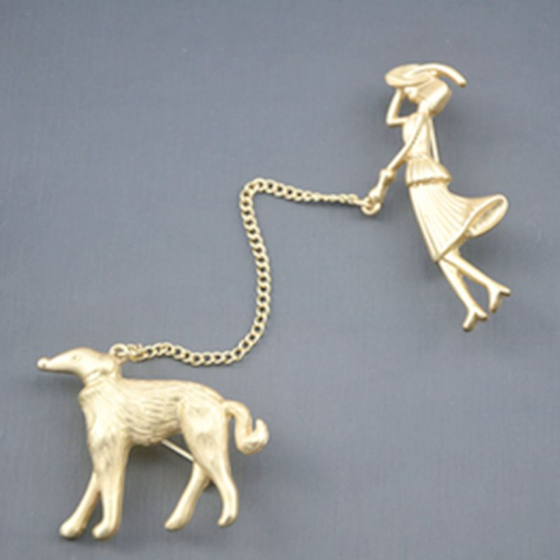 Alloy Vintage Animal brooch  (Alloy)  Fashion Jewelry NHNT0753-Alloy