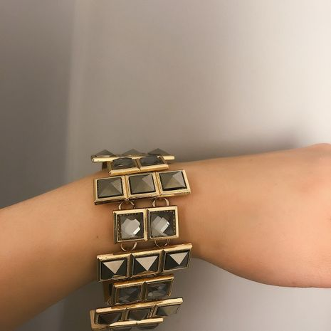 Alloy Simple Geometric bracelet  (Alloy 0390)  Fashion Jewelry NHXR2799-Alloy-0390's discount tags