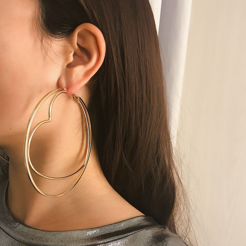 Alloy Simple Sweetheart earring  (One)  Fashion Jewelry NHXR2801-One