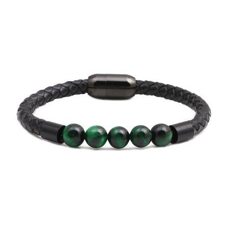 Titanium&Stainless Steel Fashion Geometric bracelet  (green)  Fine Jewelry NHYL0664-green's discount tags