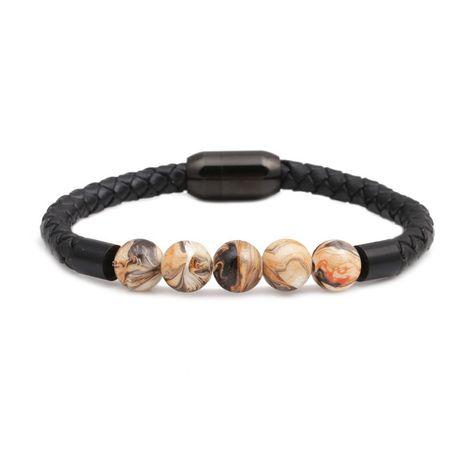 Titanium&Stainless Steel Fashion Geometric bracelet  (yellow)  Fine Jewelry NHYL0665-yellow's discount tags