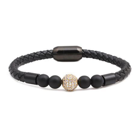 Titanium&Stainless Steel Fashion Geometric bracelet  (Alloy white zirconium)  Fine Jewelry NHYL0667-Alloy-white-zirconium's discount tags