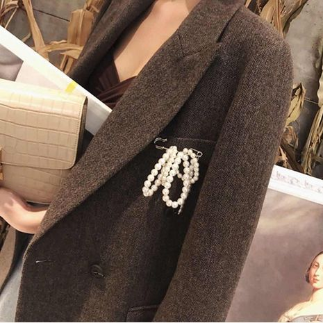 Beads Fashion Geometric brooch  (Photo Color)  Fashion Jewelry NHYQ0477-Photo-Color's discount tags