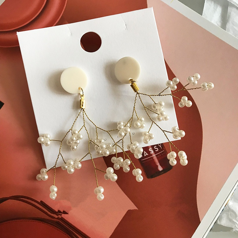 Plastic Korea Flowers earring  Beads  Fashion Jewelry NHYQ0569Beads