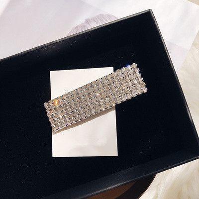 Imitated crystal&CZ Fashion Geometric Hair accessories  (Full drill hair clip)  Fashion Jewelry NHYQ0607-Full-drill-hair-clip