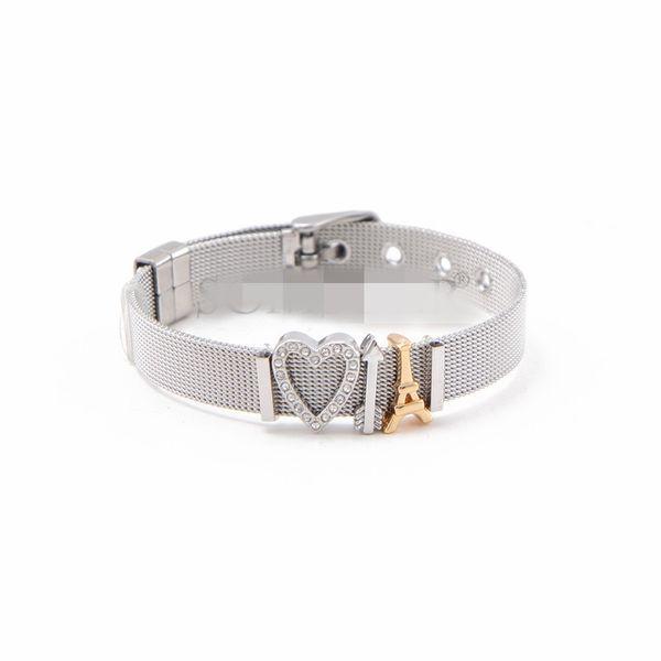 Titanium&Stainless Steel Simple Geometric bracelet  (Steel bracelet + steel alloy fittings)  Fine Jewelry NHSX0446-Steel-bracelet-steel-alloy-fittings
