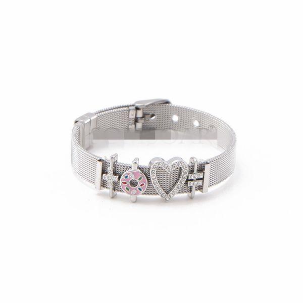 Titanium&Stainless Steel Simple Geometric bracelet  (Steel bracelet)  Fine Jewelry NHSX0453-Steel-bracelet