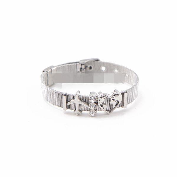 Titanium&Stainless Steel Simple Geometric bracelet  (Steel bracelet)  Fine Jewelry NHSX0454-Steel-bracelet