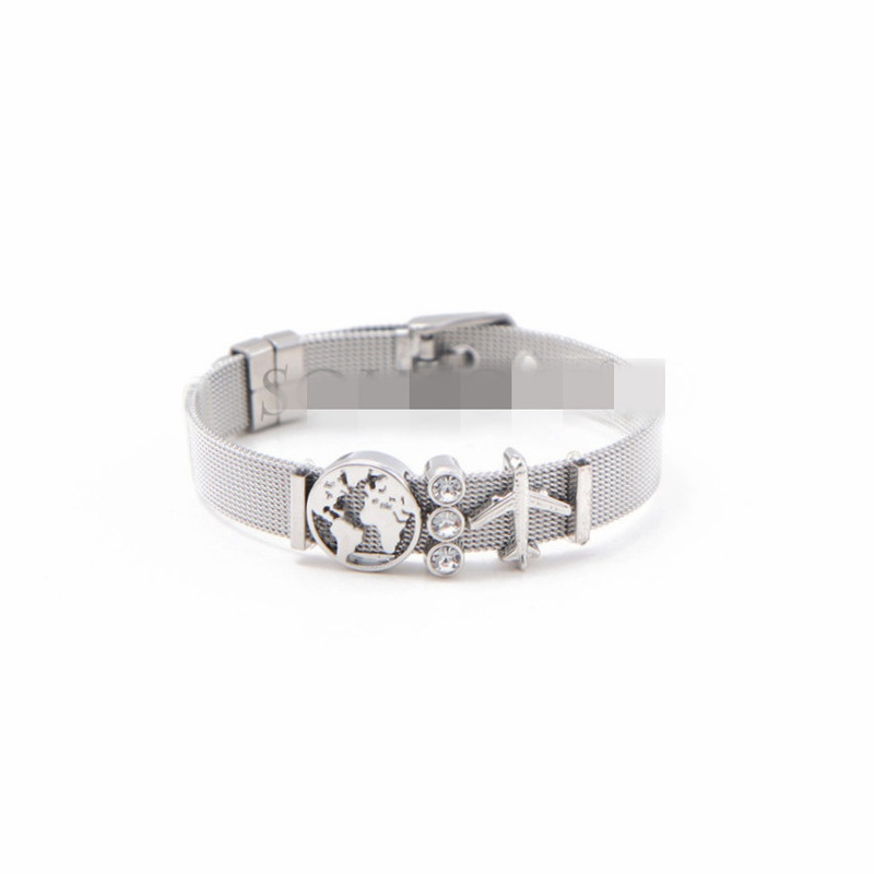 Titanium&Stainless Steel Simple Geometric bracelet  (Steel bracelet)  Fine Jewelry NHSX0455-Steel-bracelet