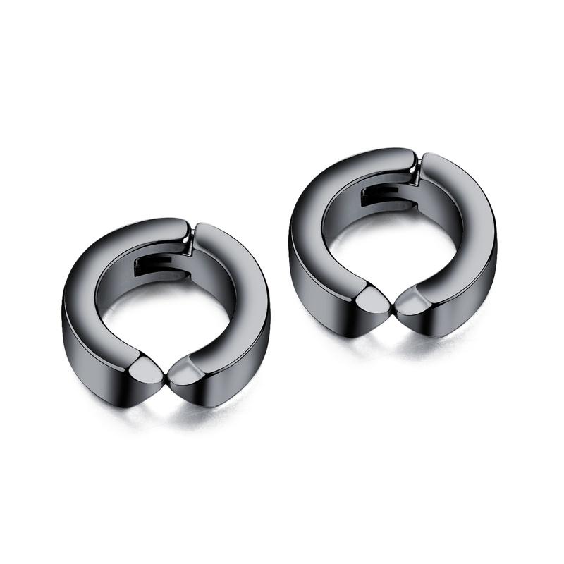 Titanium&Stainless Steel Fashion Geometric earring  (Black)  Fine Jewelry NHOP3214-Black