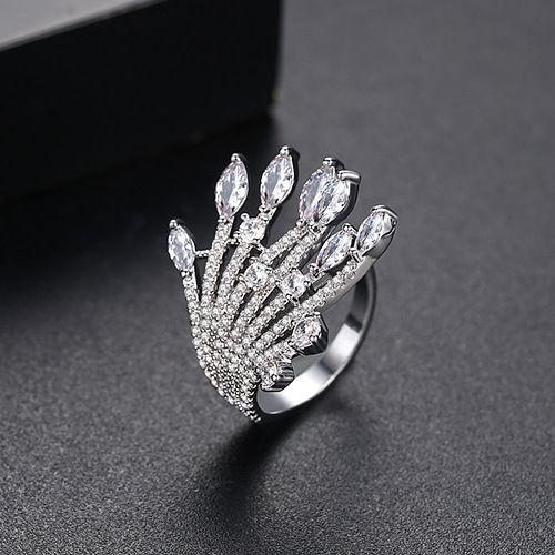 Alloy Fashion Geometric Ring  (Platinum-T18G07)  Fashion Jewelry NHTM0664-Platinum-T18G07