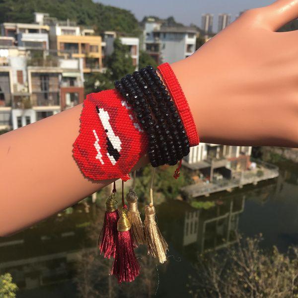 Alloy Fashion Tassel bracelet  (MI-S180074)  Fashion Jewelry NHGW1638-MI-S180074