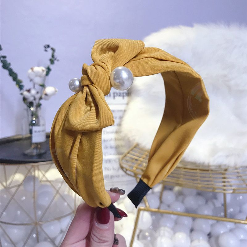 Cloth Simple Bows Hair accessories  yellow  Fashion Jewelry NHSM0432yellow