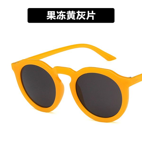Plastic Vintage  glasses  (Jelly yellow ash tablets)  Fashion Jewelry NHKD0913-Jelly-yellow-ash-tablets