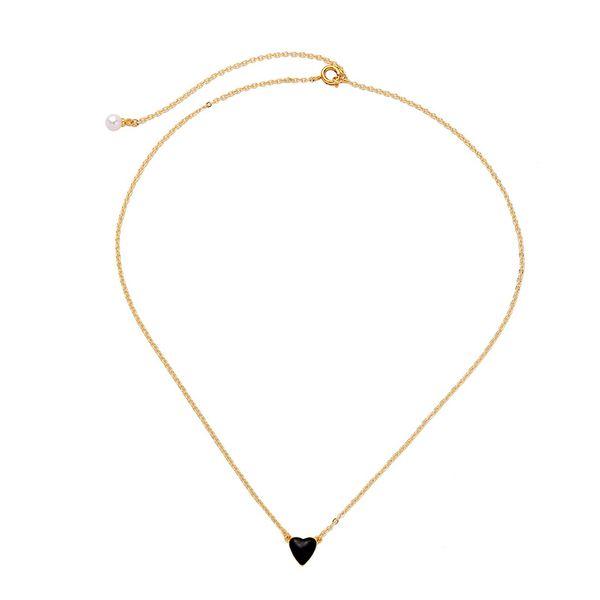 Copper Korea Sweetheart necklace  (Black-1)  Fashion Jewelry NHQD6332-Black-1