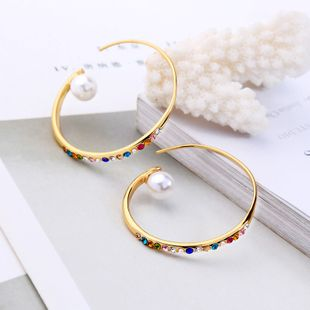 Copper Korea Geometric earring  (Photo Color)  Fine Jewelry NHQD6350-Photo-Color's discount tags