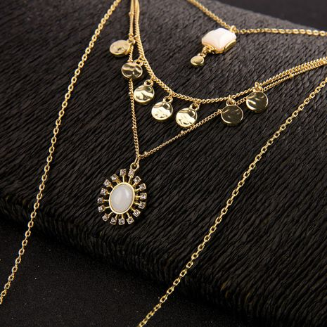 Alloy Fashion Geometric necklace  (Photo Color)  Fashion Jewelry NHQD6351-Photo-Color's discount tags