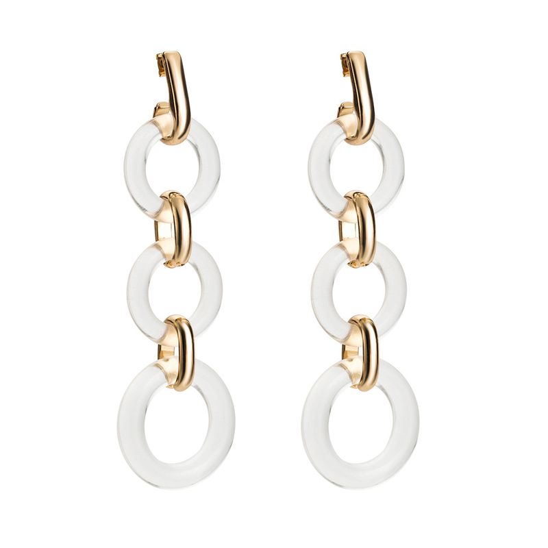Alloy Fashion Geometric earring  (white)  Fashion Jewelry NHJE2688-white