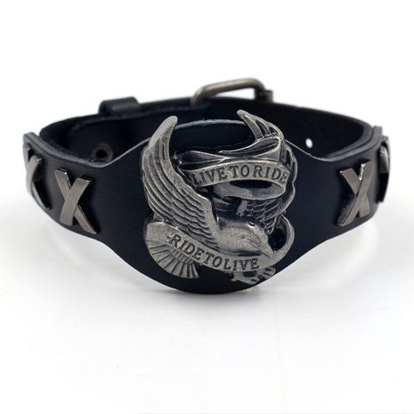 Leather Fashion Animal bracelet  (black)  Fashion Jewelry NHHM0077-black's discount tags