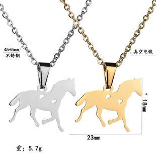 Titanium&Stainless Steel Fashion Animal necklace  (Steel color)  Fine Jewelry NHHF1339-Steel-color's discount tags