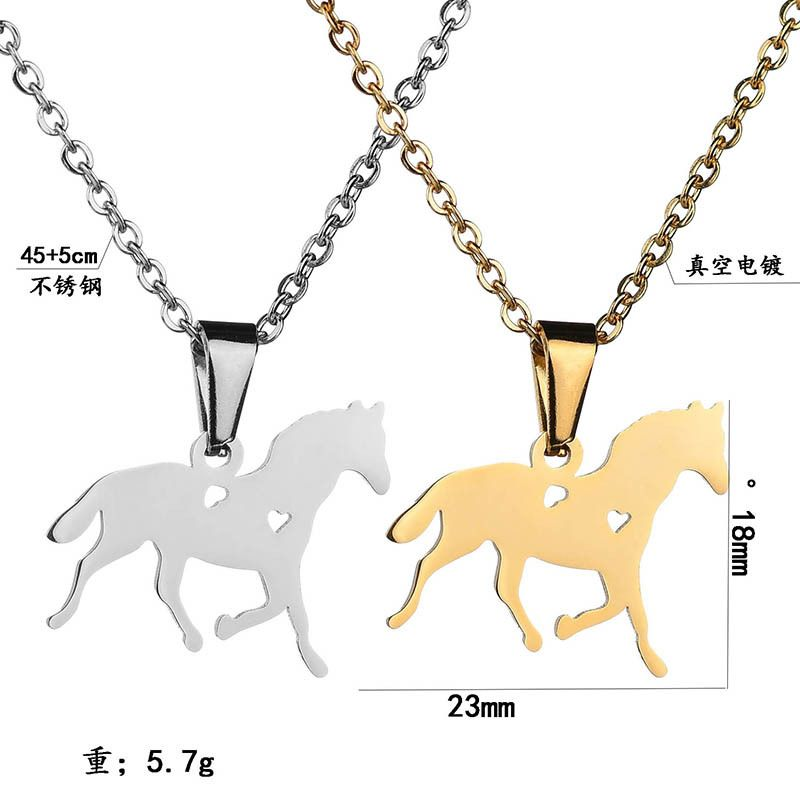 Titanium&Stainless Steel Fashion Animal necklace  (Steel color)  Fine Jewelry NHHF1339-Steel-color