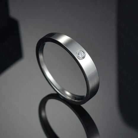 Titanium&Stainless Steel Simple Geometric Ring  (Steel color-6)  Fine Jewelry NHHF1342-Steel-color-6's discount tags