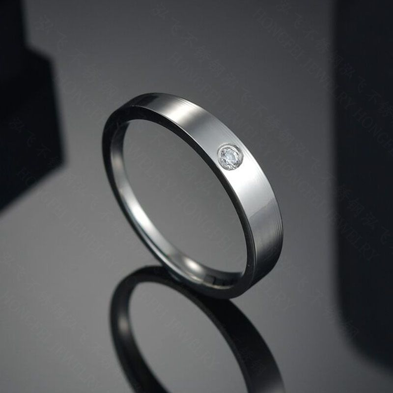 TitaniumStainless Steel Simple Geometric Ring  Steel color6  Fine Jewelry NHHF1342Steelcolor6
