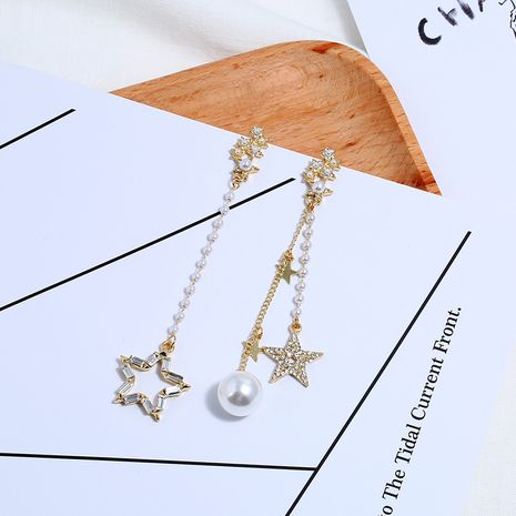Alloy Fashion Tassel earring  (White Beads KC Alloy)  Fashion Jewelry NHKQ2419-White-Beads-KC-Alloy's discount tags