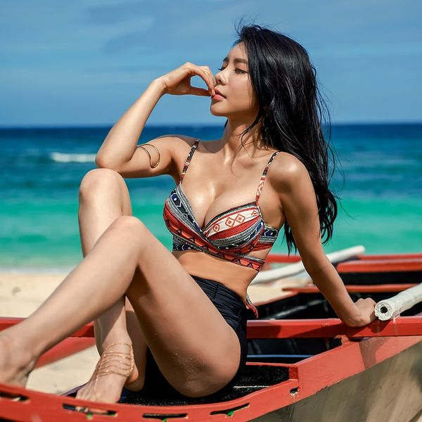 Polyester Fashion  Bikini  (Color-M)  Swimwear NHHL1925-Color-M