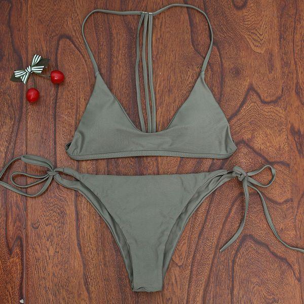 Polyester Fashion  Bikini  (Picture color-S)  Swimwear NHHL1926-Picture-color-S