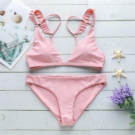 Maillot de bain Bikini Fashion en coton (Rose-S) NHHL2007-Rose-S's discount tags
