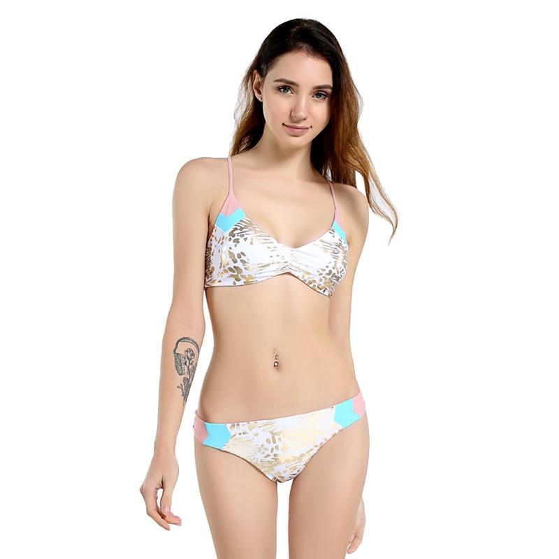 Cotton Fashion  Bikini  (Hot stamping color-S)  Swimwear NHHL2011-Hot-stamping-color-S