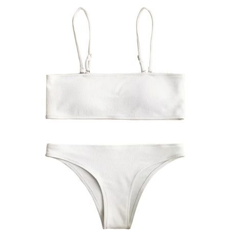 Maillot de bain en coton Fashion Bikini (Blanc-S) NHHL2021-Blanc-S's discount tags