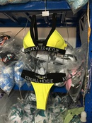 Polyester Fashion  Bikini  YellowS  Swimwear NHHL1862YellowS