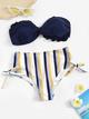 Polyester Fashion  Bikini  (Blue-s)  Swimwear NHHL1998-Blue-s