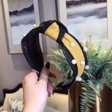 Paño Lazos simples Accesorios para el cabello (amarillo) Joyería de moda NHSM0396-amarillo's discount tags