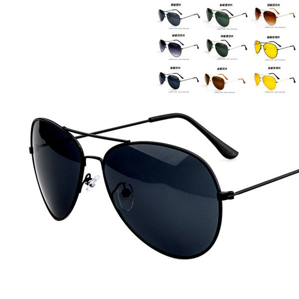 Alloy Vintage  glasses  (Black frame black film)  Fashion Accessories NHKD0744-Black-frame-black-film