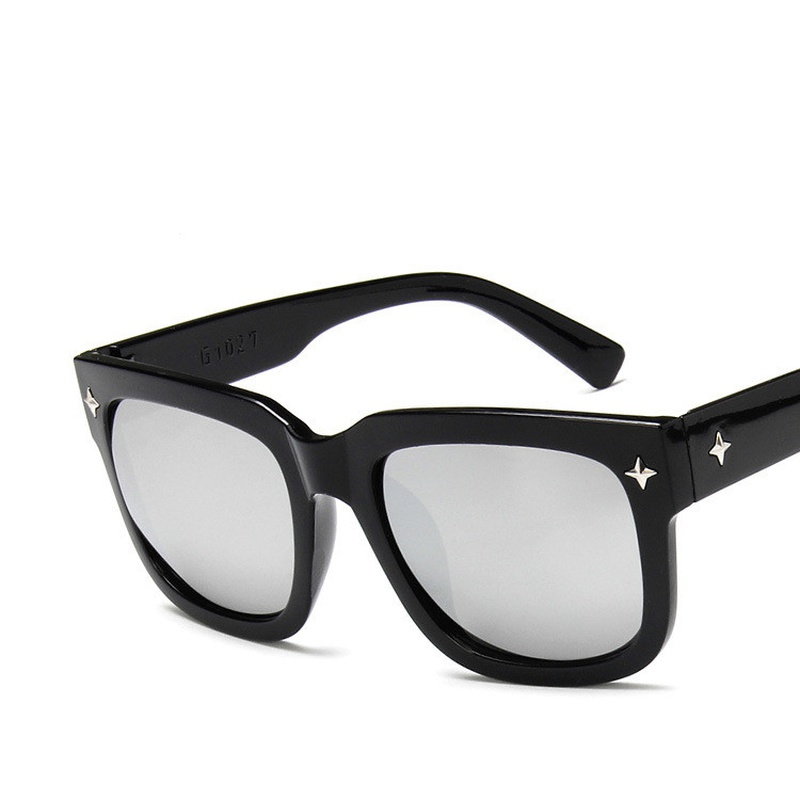 Plastic Fashion  glasses  Bright black all gray  Fashion Accessories NHKD0803Brightblackallgray