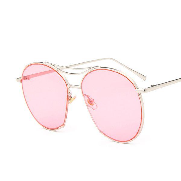 Alloy Vintage  glasses  (Alloy frame pink piece)  Fashion Accessories NHKD0810-Alloy-frame-pink-piece