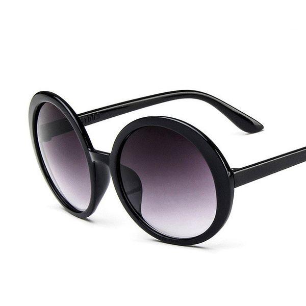 Plastic Vintage  glasses  (Bright black)  Fashion Accessories NHKD0821-Bright-black
