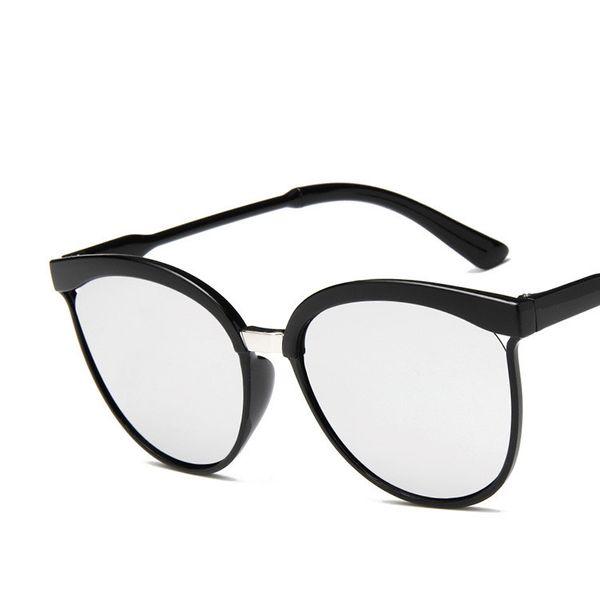 Plastic Fashion  glasses  (Bright black ash)  Fashion Accessories NHKD0860-Bright-black-ash