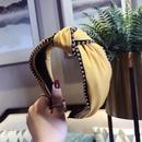 Cloth Korea Bows Hair accessories  yellow  Fashion Jewelry NHSM0402yellow